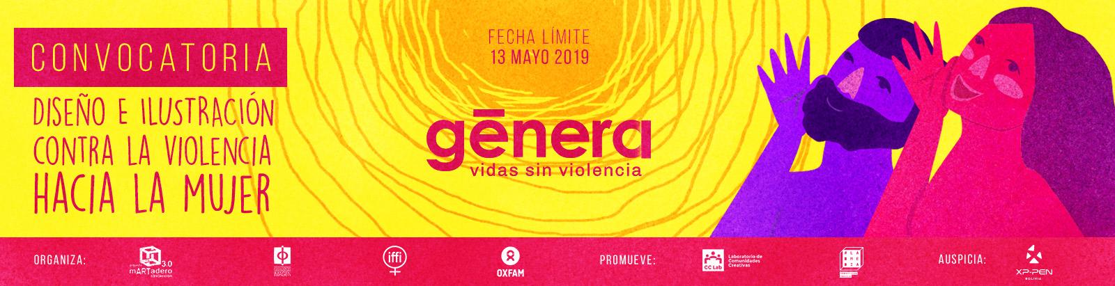 """CONVOCATORIA """"GENERA-Vidas Sin Violencia"""" – Diseño e ilustración de stickers temáticos"""