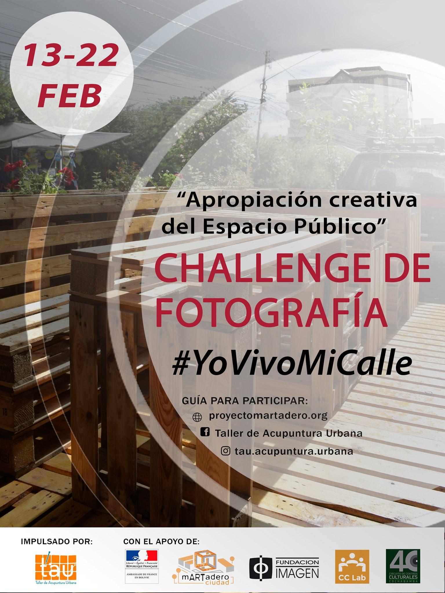 Challenge de Fotografía #YoVivoMiCalle – Parklet TAU